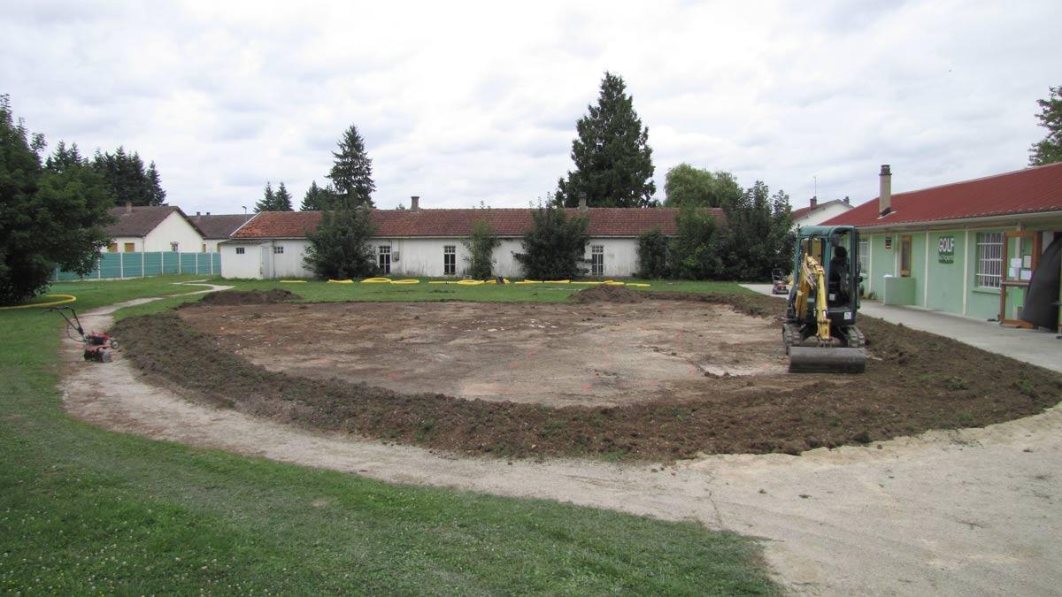 Construction du green