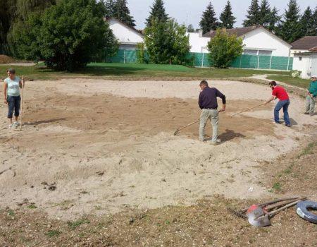 Construction du putting green – La suite