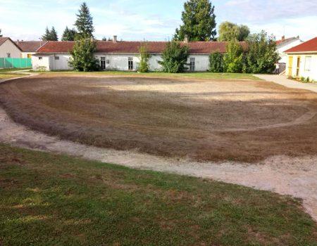 Construction du putting green : mélange terre sable