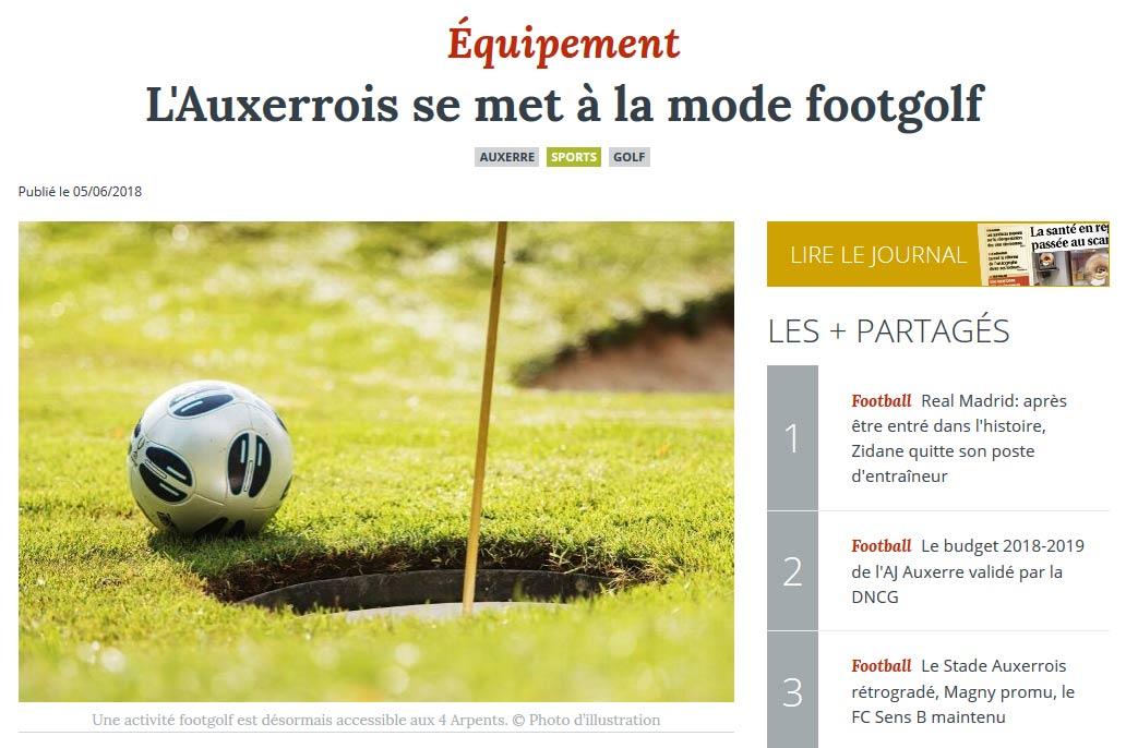 Le Footgolf dans l' Yonne Républicaine