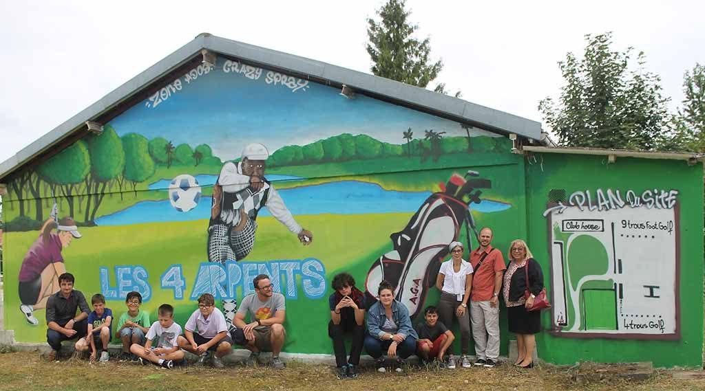 Graffiti au practice de golf
